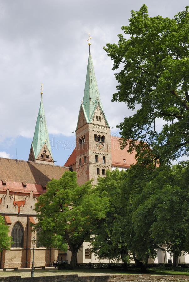 Cathedral of Augsburg. (Bavaria, Germany stock photos
