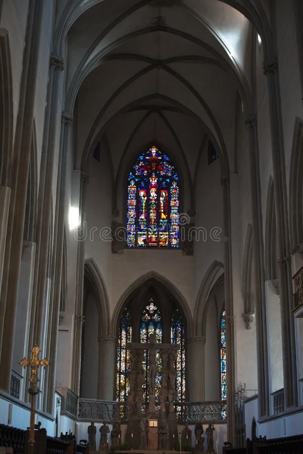 Cathedral of Augsburg. Inside the cathedral (dome) of Augsburg, Bavaria, Germany royalty free stock photography
