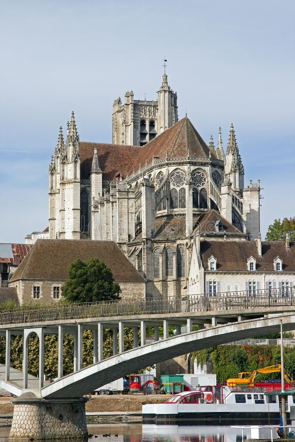 Download Cathedral Of Auxerre (Bourgogne France) Stock Photo - Image: 27547572