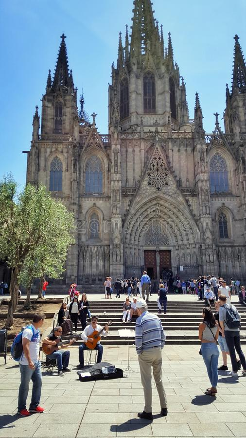 Cathedral, Barcelona stock photos