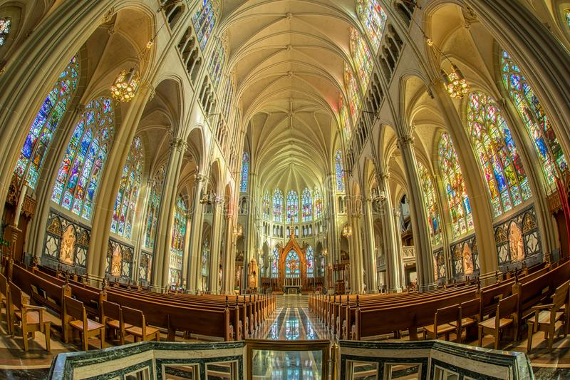 Cathedral Basilica of the Assumption in Covington Kentucky. A view inside the St. Mary's Cathedral Basilica of the Assumption in Covington, Kentucky, USA royalty free stock photo