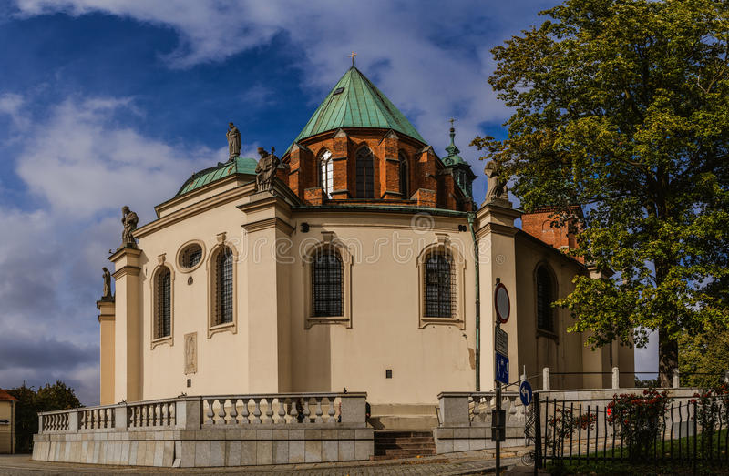 Cathedral Basilica of Assumption, Gniezno, Poland. Cathedral Basilica of the Assumption of the Blessed Virgin Mary and St. Adalbert is a Gothic cathedral in royalty free stock photography