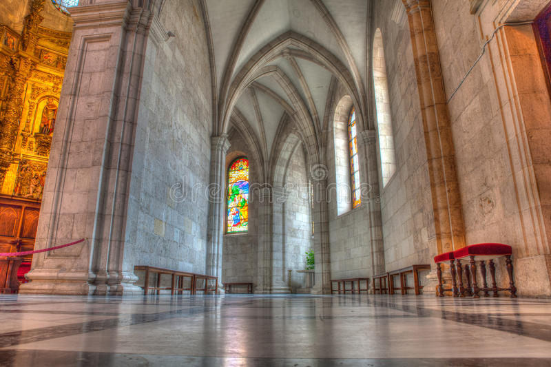 Cathedral Basilica of the Assumption of the Virgin Mary of Santa stock image