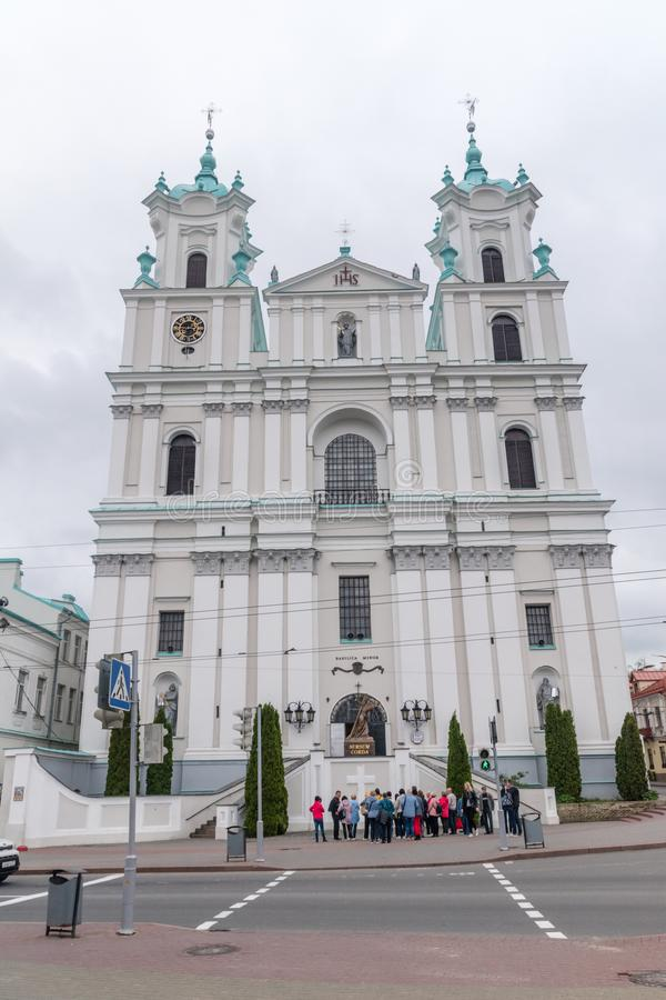 The Cathedral Basilica of Saint Francis Xavier stock image