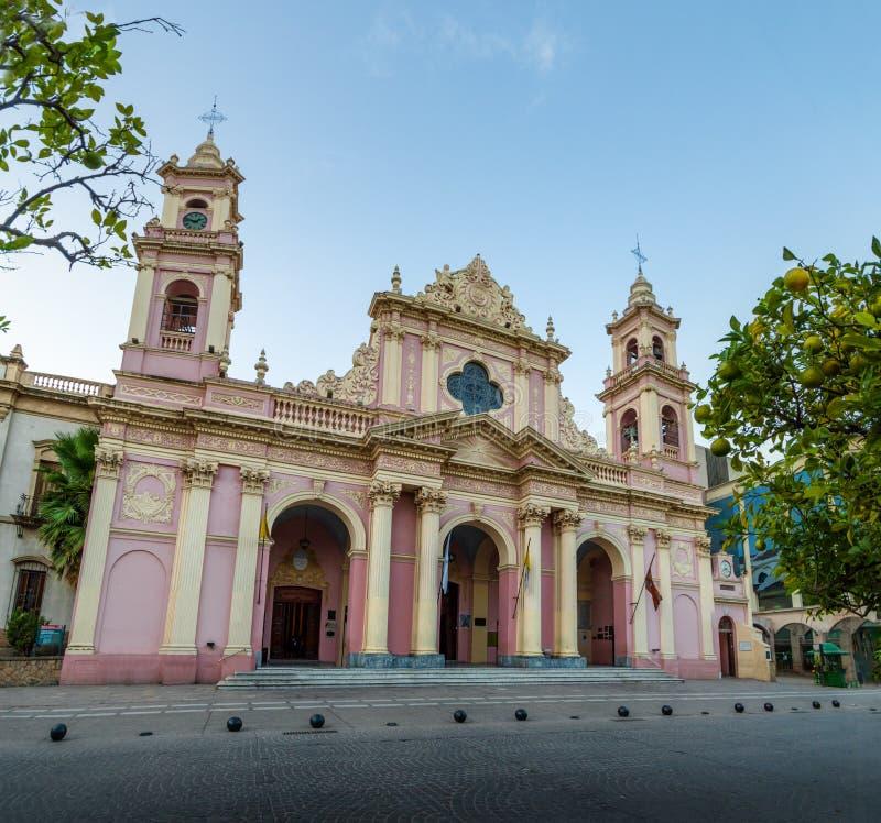 Cathedral Basilica of Salta - Salta, Argentina. Cathedral Basilica of Salta in Salta, Argentina stock image