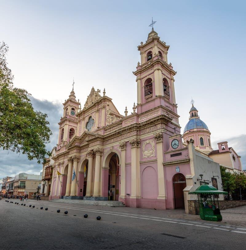 Cathedral Basilica of Salta - Salta, Argentina. Cathedral Basilica of Salta in Salta, Argentina stock photos