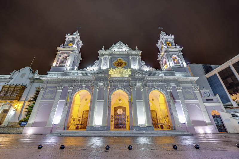 Cathedral Basilica in Salta, Argentina stock image