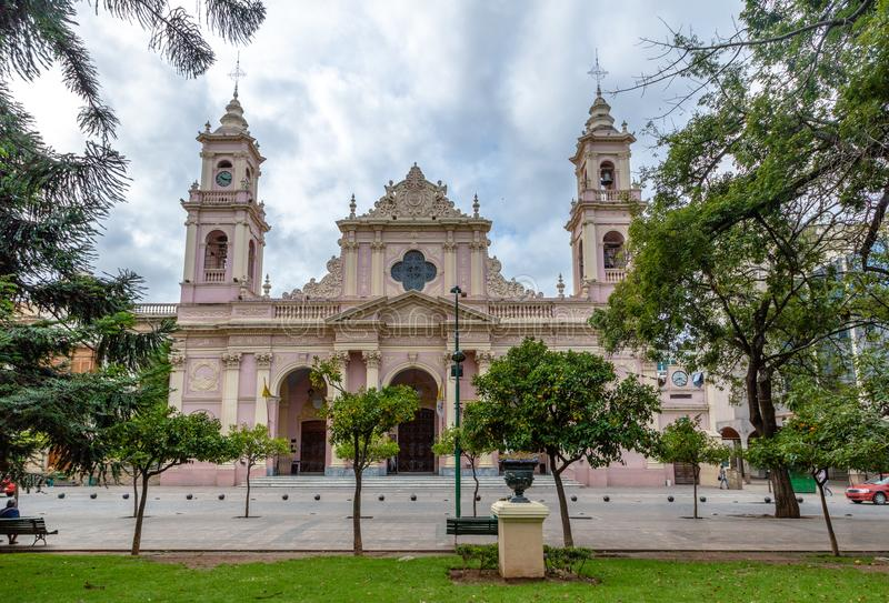 Cathedral Basilica of Salta - Salta, Argentina. Cathedral Basilica of Salta in Salta, Argentina stock images