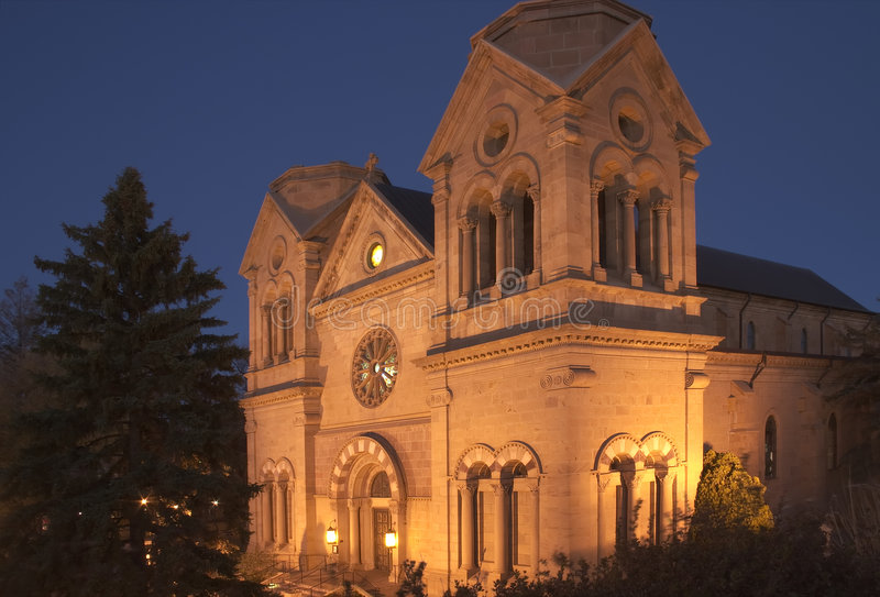 Cathedral Basilica of St-Francis in Santa Fe royalty free stock image