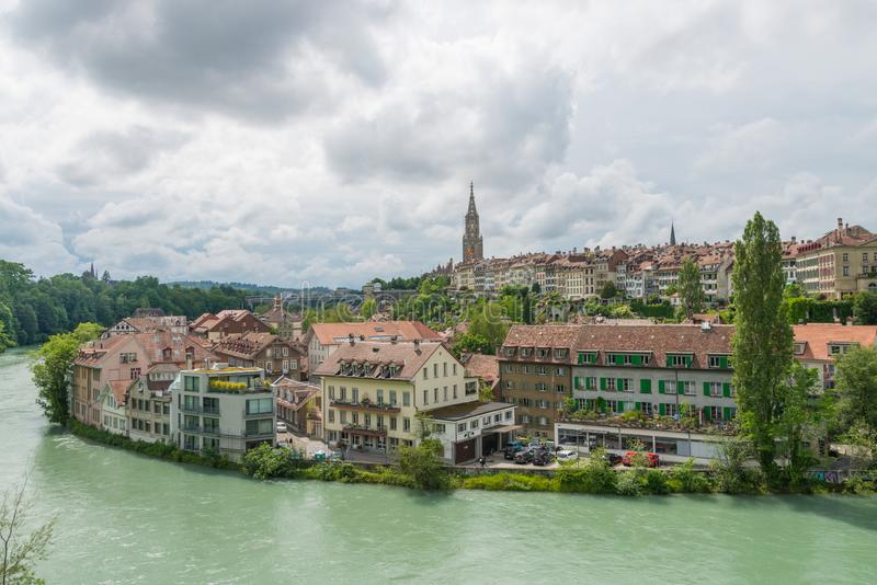 Cathedral of Bern in Switzerland royalty free stock image