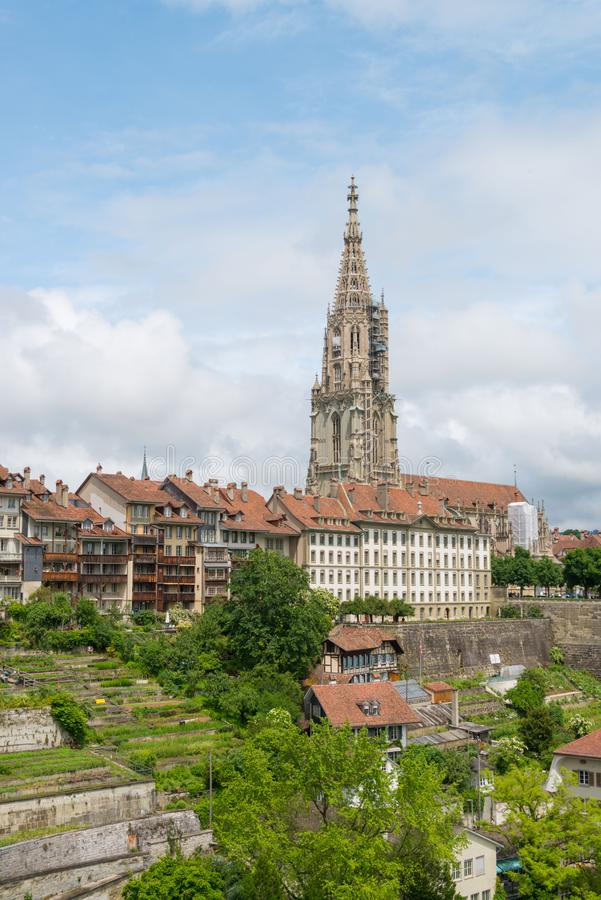 Cathedral of Bern in Switzerland royalty free stock photos