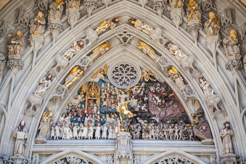 The cathedral of Bern,Switzerland stock photo