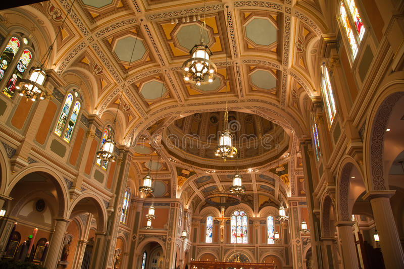 Cathedral of the blessed Sacrament royalty free stock photography