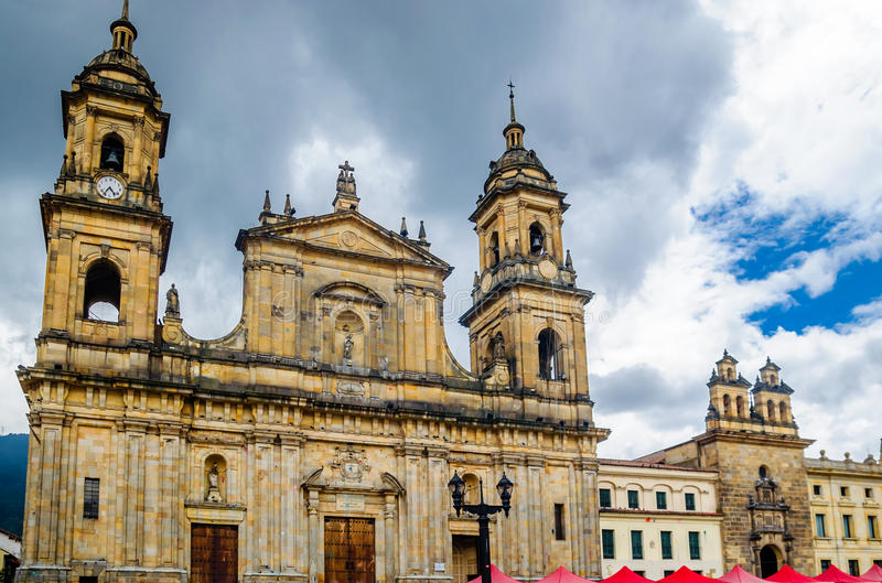 Cathedral of Bogota in Colombia stock image