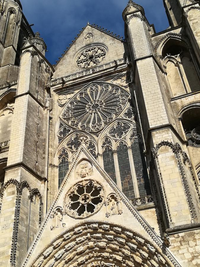 Cathedral of Bourges, France stock image