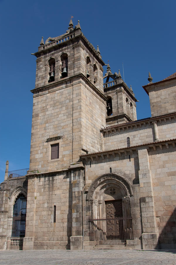 Cathedral of Braga. In Portugal royalty free stock image
