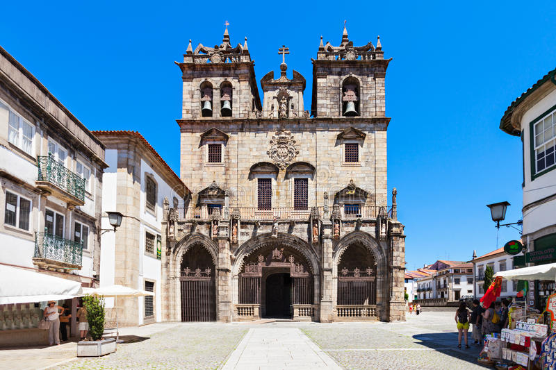 Cathedral of Braga. BRAGA, PORTUGAL - JULY 11: The Cathedral of Braga (Se de Braga) is one of the most important monuments in Braga, Portugal on July 11, 2014 in stock photos