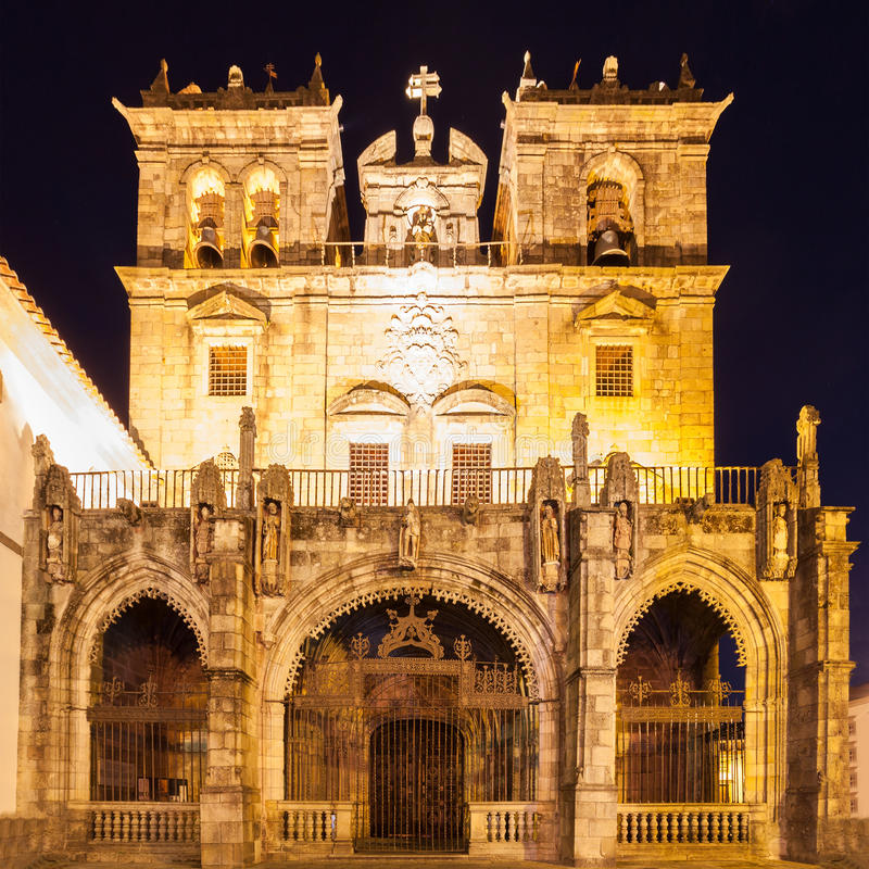 Cathedral of Braga. The Cathedral of Braga (Se de Braga) is one of the most important monuments in Braga, Portugal royalty free stock image