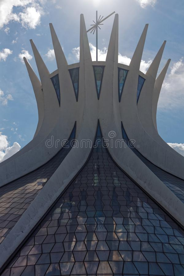 Cathedral in Brasilia 04 royalty free stock photo
