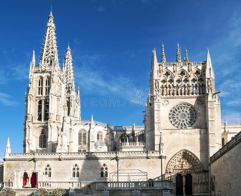Cathedral of Burgos royalty free stock photos