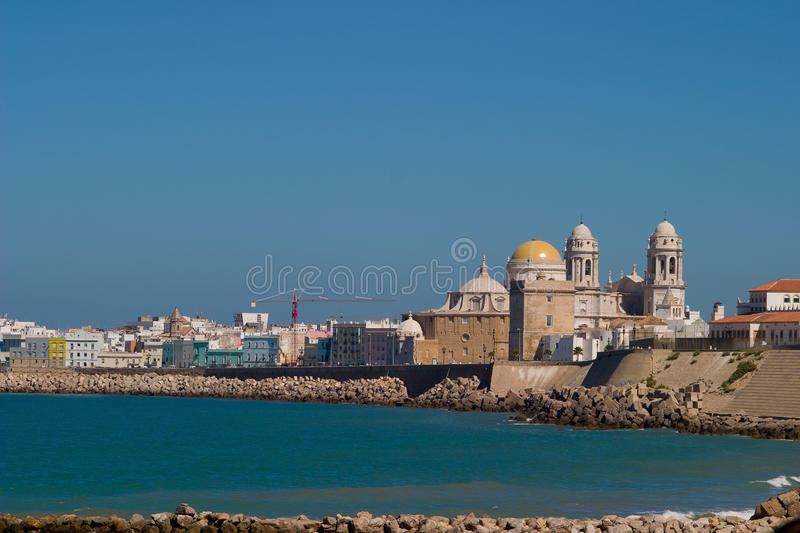Cathedral of Cadiz stock photography