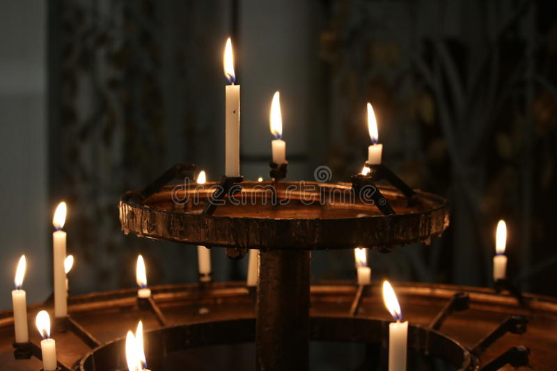 Cathedral Candles royalty free stock photos