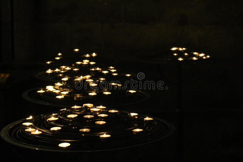 Cathedral Candles stock photography