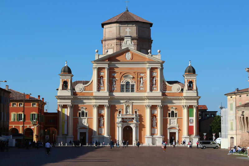 Cathedral of Carpi, Modena, Italy. Original photo from Carpi, Italy, Piazza Martiri stock photo