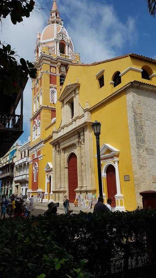 Cathedral Catalina de AlejandrÃa, Cartagena de Indias fotografía de archivo