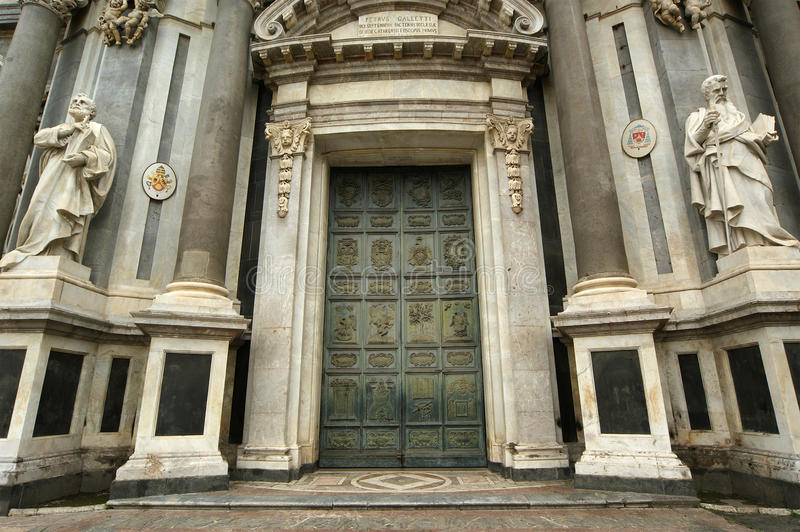 The Cathedral of Catania, Sicily, southern Italy. royalty free stock images