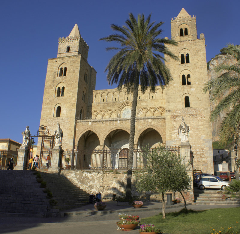 Cathedral of Cefalu royalty free stock images