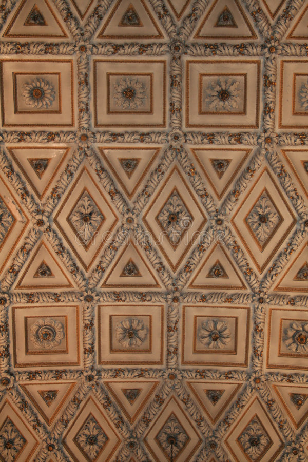 Cathedral ceiling. (17th century stock photo
