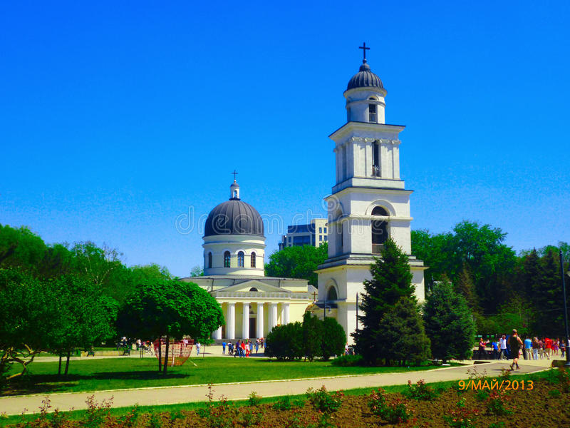 The Cathedral in the centre of the Moldovan capital stock photography