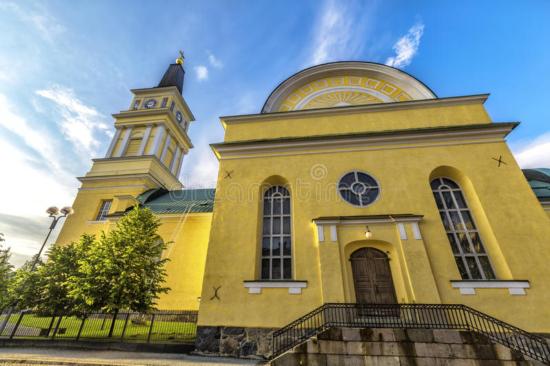 Cathedral in the centre of Oulu, Finland. Oulu Cathedral Oulun tuomiokirkko is an Evangelical Lutheran cathedral, located in the centre of Oulu, Finland. The royalty free stock photo
