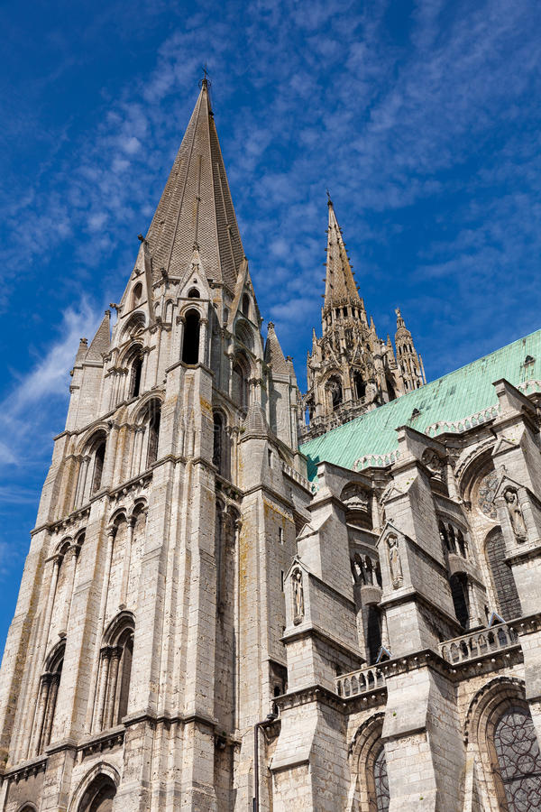 Download Cathedral of Chartres stock photo. Image of patrimony - 20522148