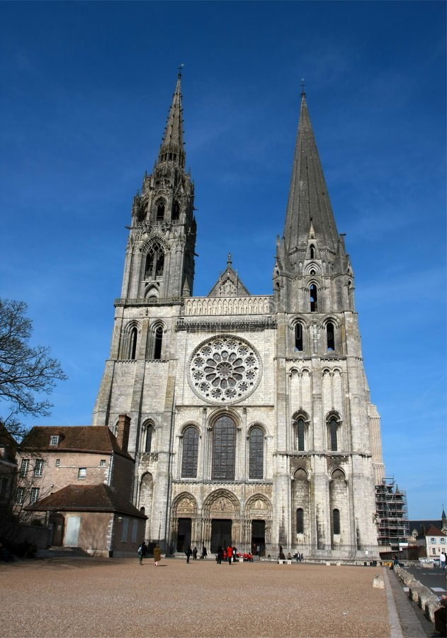 Download The Cathedral Of Chartres Royalty Free Stock Photography - Image: 8734307