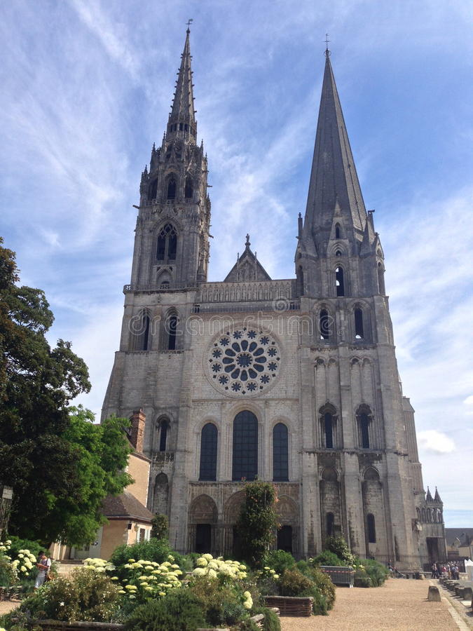 Cathedral Chartres stock photography