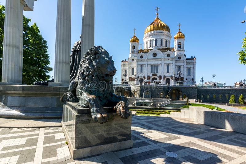 Cathedral of Christ the Savior Khram Khrista Spasitelya, Moscow, Russia royalty free stock image