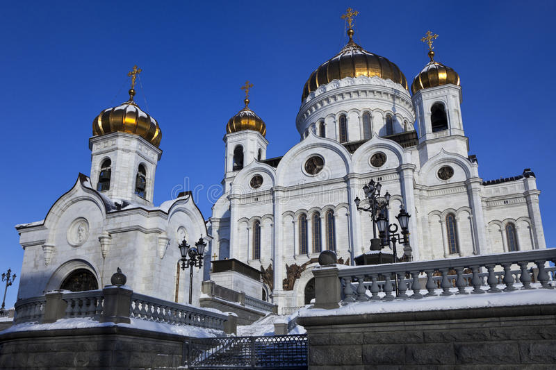 Cathedral of Christ the Savior in Moscow, Russia royalty free stock photography
