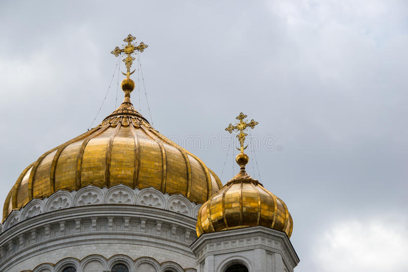 The Cathedral of Christ the Savior Moscow, Russia royalty free stock image
