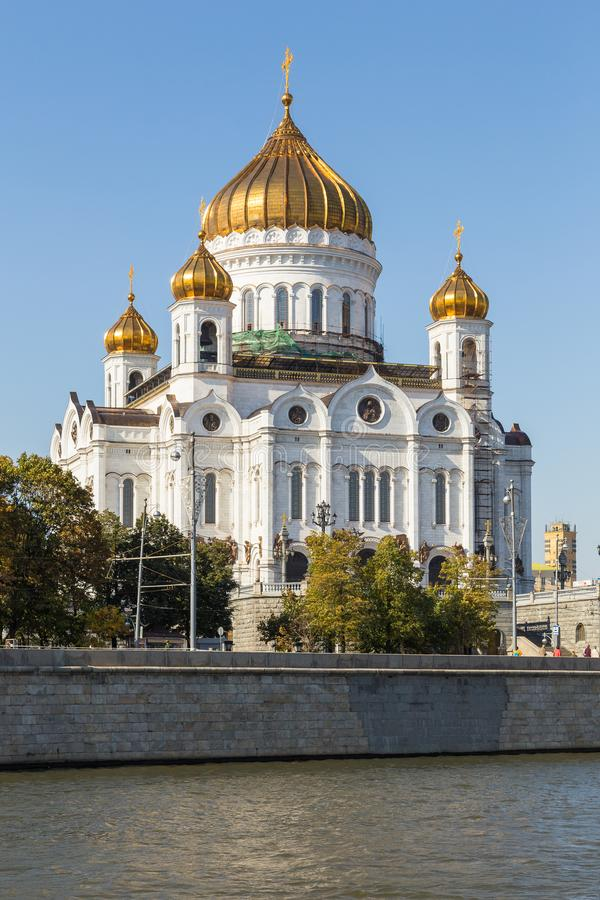 The Cathedral of Christ the Savior, Russian Orthodox cathedral in Moscow, Russia. stock images