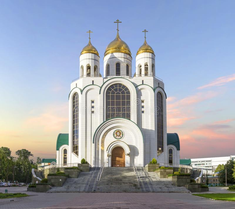 Cathedral of Christ the Saviour. Kaliningrad, Russia. stock photography