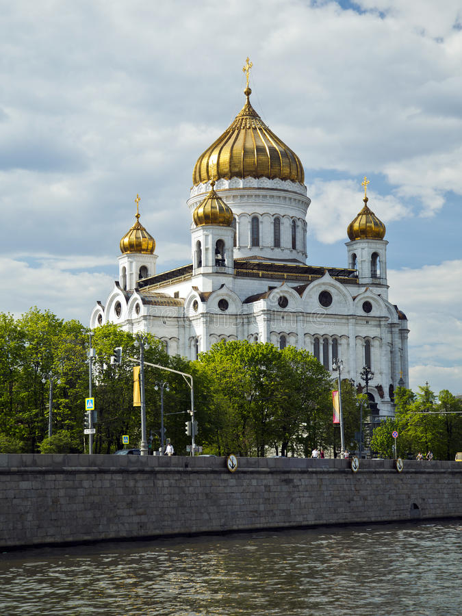 Cathedral of Christ the Saviour. Moscow, Russia royalty free stock photos