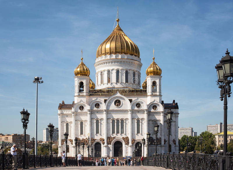 Cathedral of Christ the Saviour, Moscow, Russia royalty free stock image