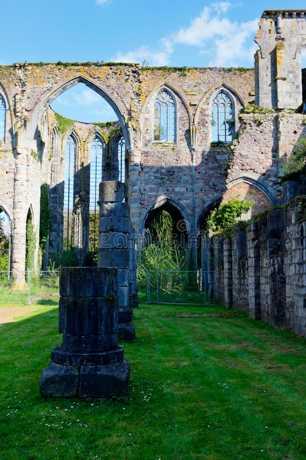 Cathedral Church Abbey Aulne Thuin Landelies, Belgium royalty free stock photos