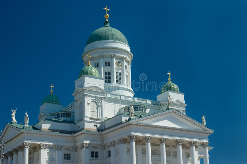 Cathedral church in Helsinki royalty free stock image