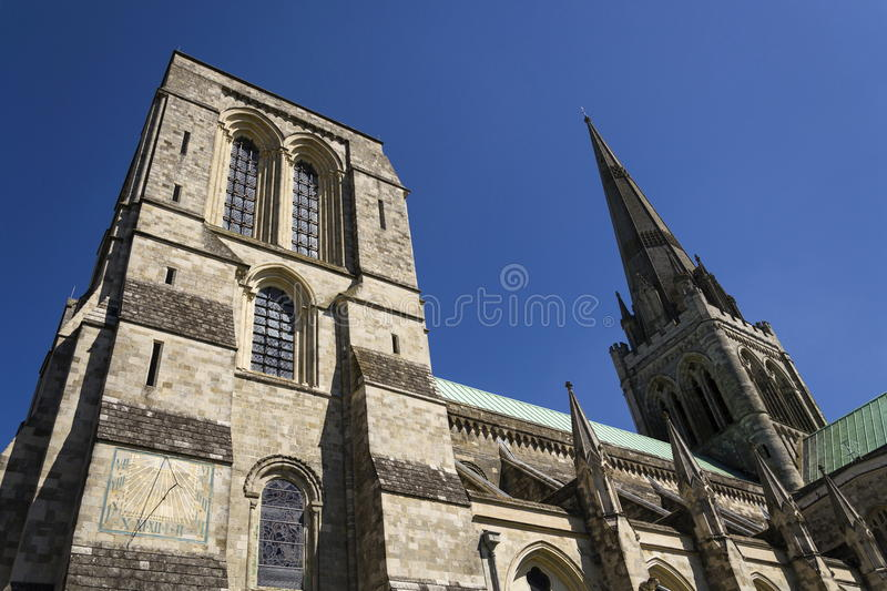 Cathedral Church of the Holy Trinity in Chichester, England royalty free stock photos