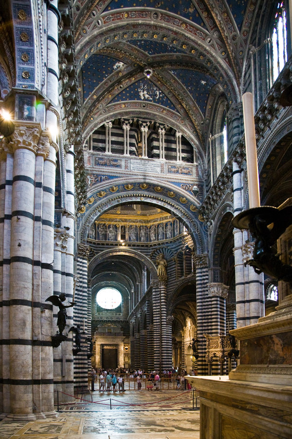 Cathedral Church - Siena, Ital stock photo