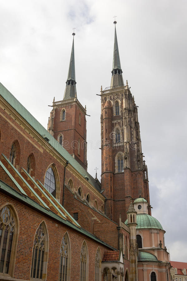 Cathedral church of St. John the Baptist, Wroclaw, Poland stock photo