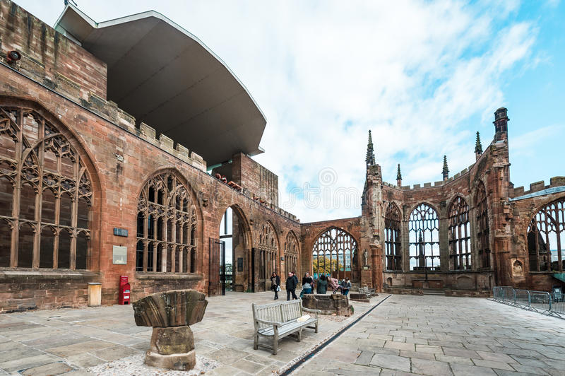 Cathedral Church of St Michael in Coventry, England stock images